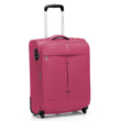 sötét rózsaszín bőrönd