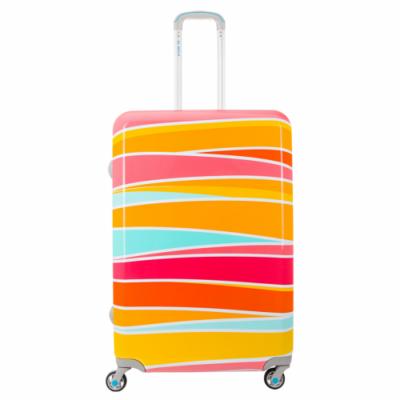 BG Berlin színes csíkos bőrönd