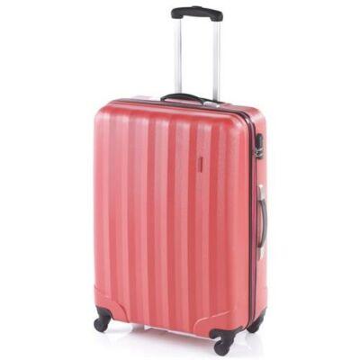 korall színű bőrönd