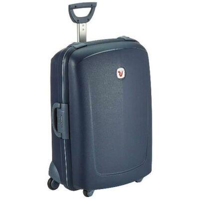 sötétkék bőrönd