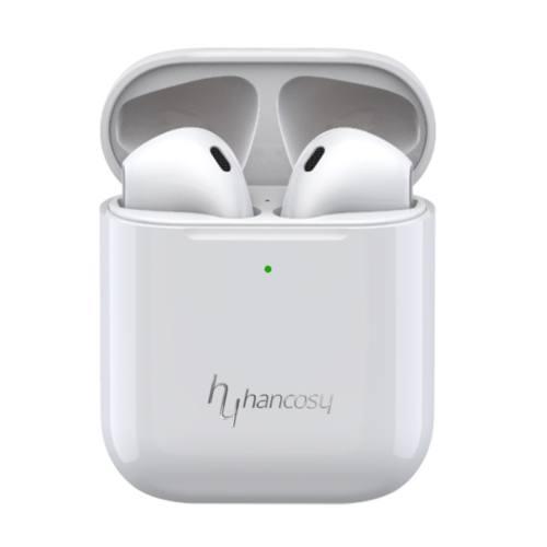 Hancosy i27 True Wireless Airpods 2 - vezeték nélküli fülhallgató, dokkolóval (Fehér)