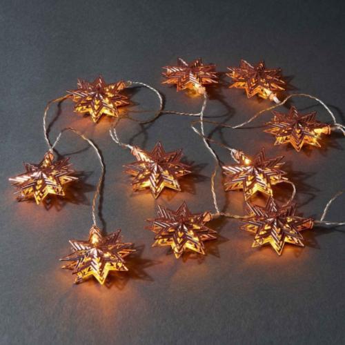 Stella Csillag beltéri, elemes LED fényfüzér (1,8 m, óarany színű)
