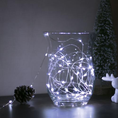 Vékonyszálú, beltéri miniLED-es fényfüzér (5 m, hideg fehér/ színes)
