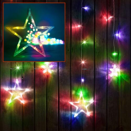 Csillag beltéri LED fényfüggöny 8 programmal (3 × 1 m; színes)