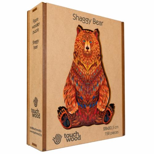 Bozontos Medve különleges fa puzzle (158 db-os, 14+)