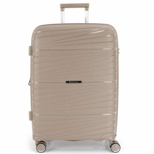 Gabol Kiba bővíthető bőrönd (közepes méret) bézs