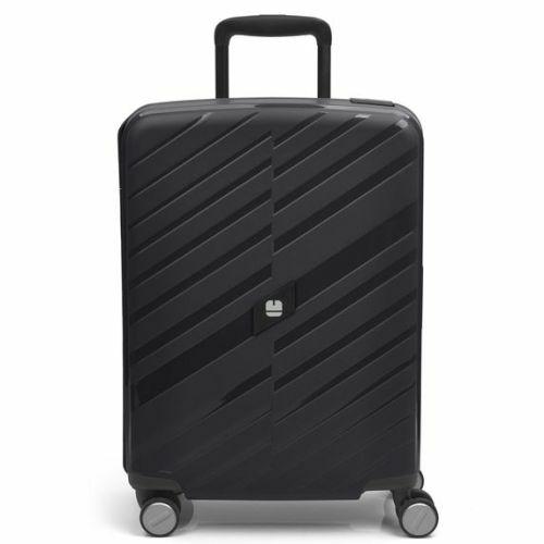 Gabol Sendai bőrönd (cipzár nélküli) - kabin méret, fekete