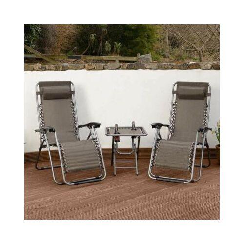 2 db zéró gravitáció kerti szék ASZTALLAL