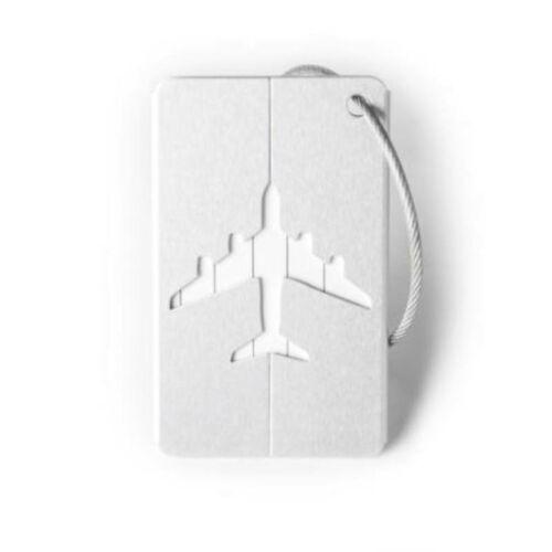 Elegáns, alumínium bőröndcímke