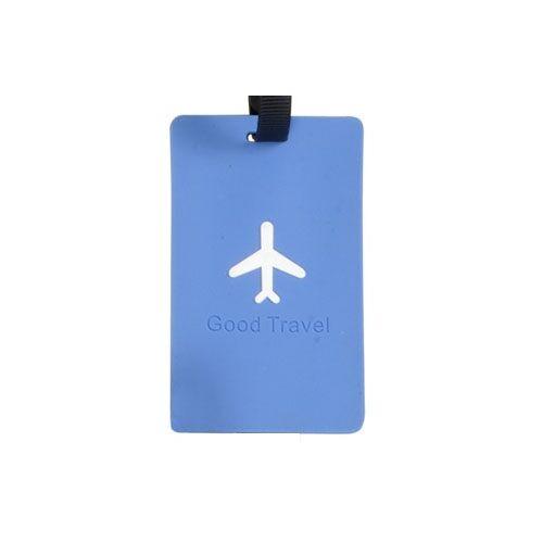 Kék repülős bőröndcímke