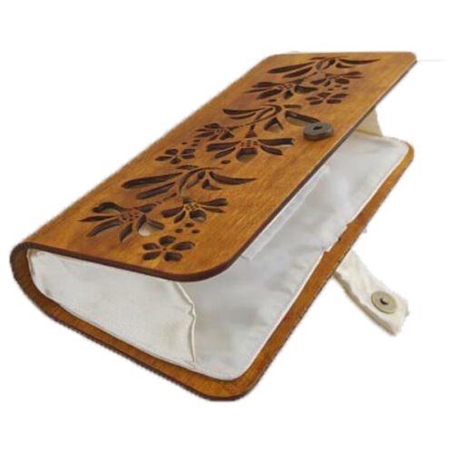 CASUAL női alkalmi táska fából (barna-fehér)