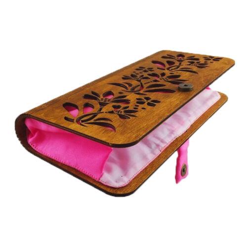 CASUAL női alkalmi táska fából (barna - rózsaszín)