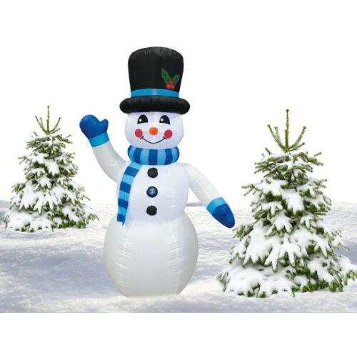 Téli dekorációnak felfújható és világító Hóember (240 cm)