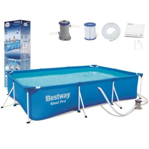 BESTWAY Steel Pro szögletes, fémvázas medence szett (300 x 201 x 66 cm)