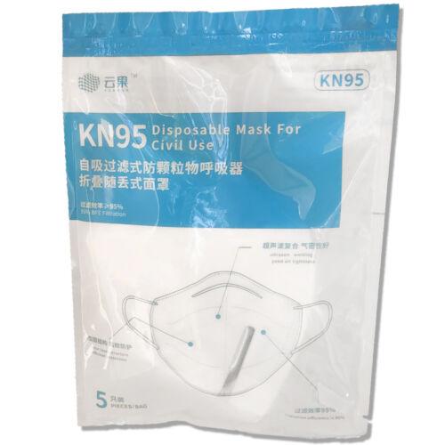 KN95/ FFP2 Professzionális Yunguo eldobható arcmaszk (5 db)