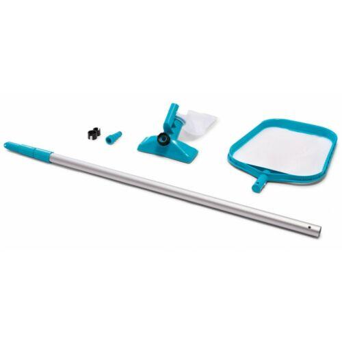 INTEX Medencetisztító szett, fölöző háló, ventúri porszívófej, teleszkópos nyél