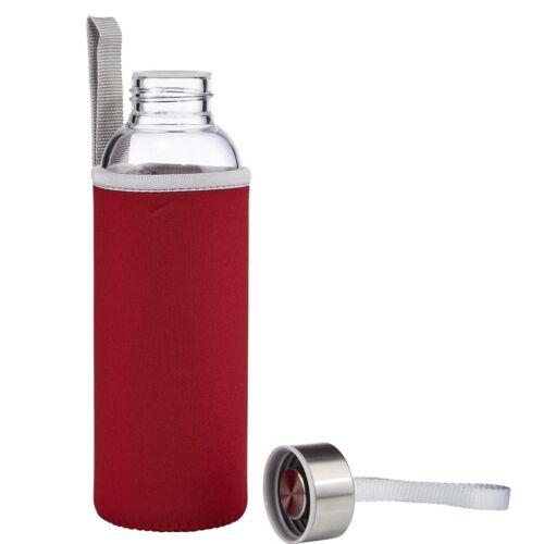Üvegkulacs hőtartó tokban 500ml piros