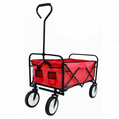 Összecsukható strandkocsi piros
