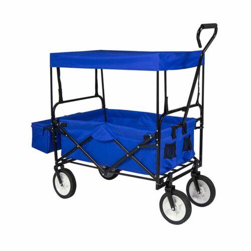 Összecsukható gurulós kocsi tetővel kék