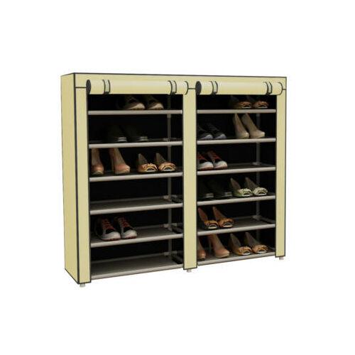 Mobil cipőtároló szekrény védő huzattal bézs