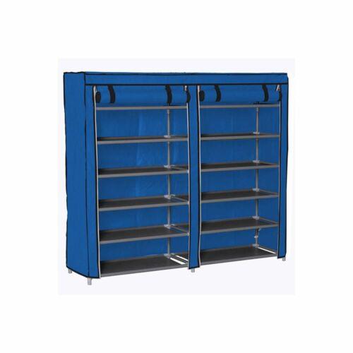 Mobil cipőtároló szekrény védő huzattal kék