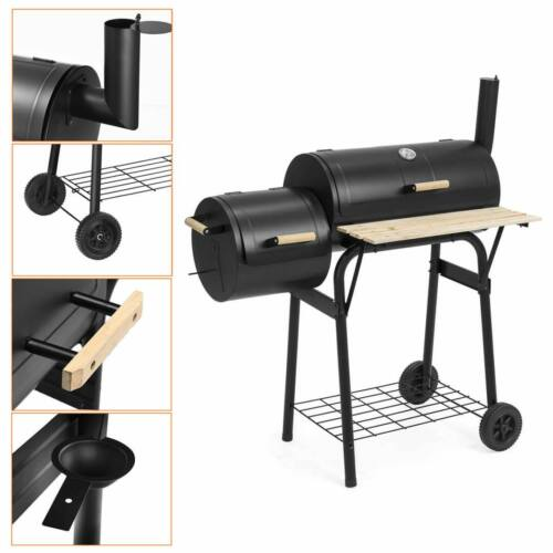 Faszenes BBQ grill és smoker (füstölő) 2in1 részletek