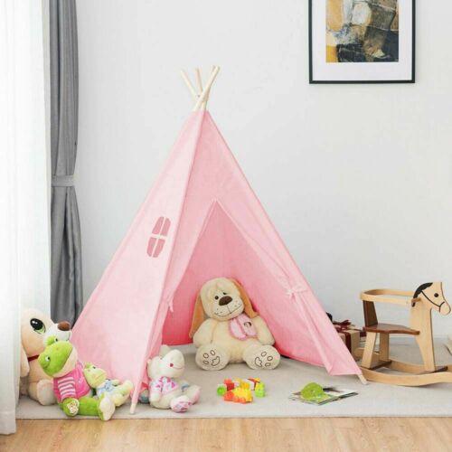 Indián sátor gyerekeknek - rózsaszín, bent