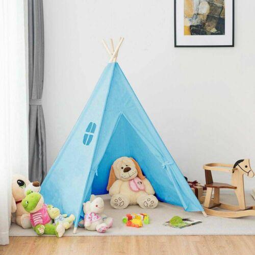 Indián sátor gyerekeknek - kék, bent