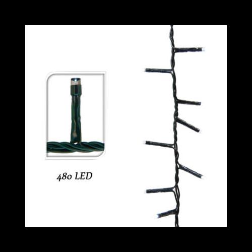 LED fényfüzér 8 programmal (15 m, meleg fehér)