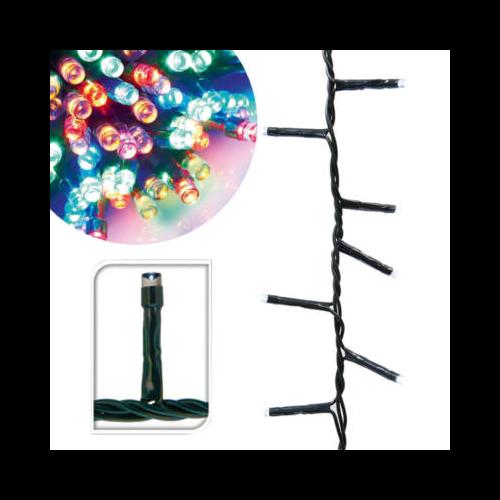 LED fényfüzér 8 programmal (39 m, színes)