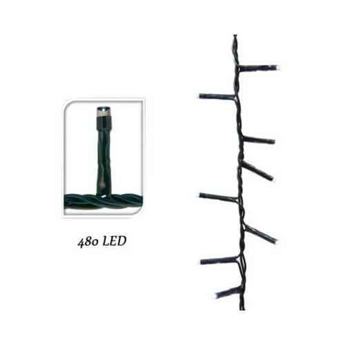 LED fényfüzér 8 programmal (39 m, meleg fehér)