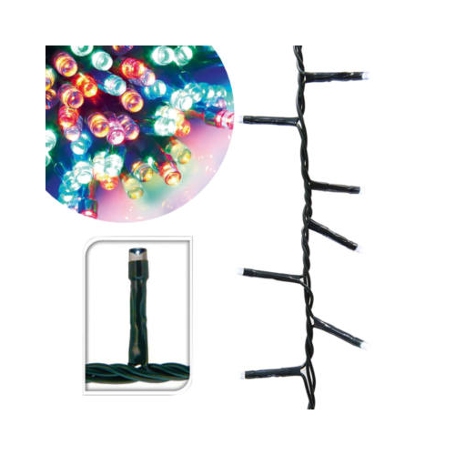 LED fényfüzér 8 programmal (51 m, színes)