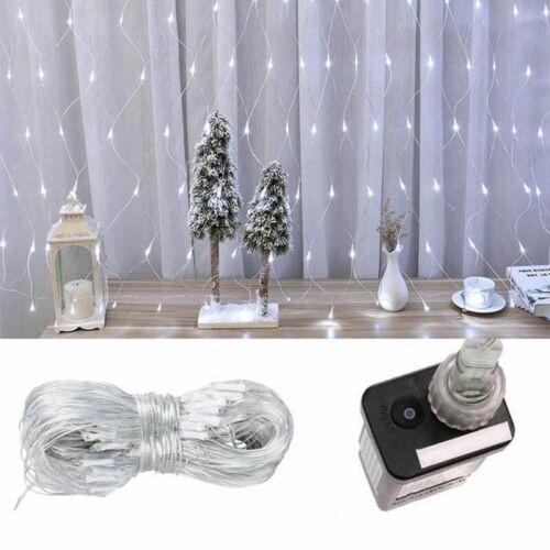 7 programos LED fényháló (1,85 x 0,85 m, hideg fehér)