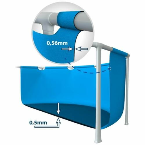 INTEX MetalPool fémvázas medence 2020-as modell (366 x 76 cm) részlet