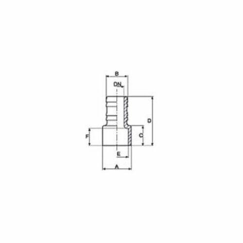 Toldó, gégecső 38 mm  - PVC idom D50 mm méretei