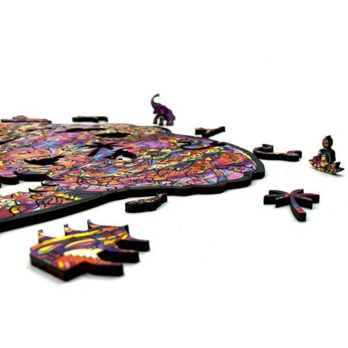 Hatalmas Elefánt különleges fa puzzle (14+) darabjai