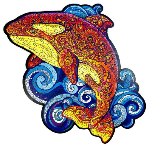 Kardszárnyú Delfin különleges fa puzzle (14+) egyben