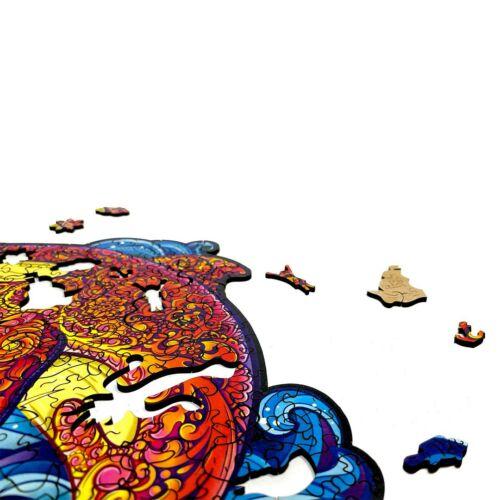 Kardszárnyú Delfin különleges fa puzzle (14+) részlet