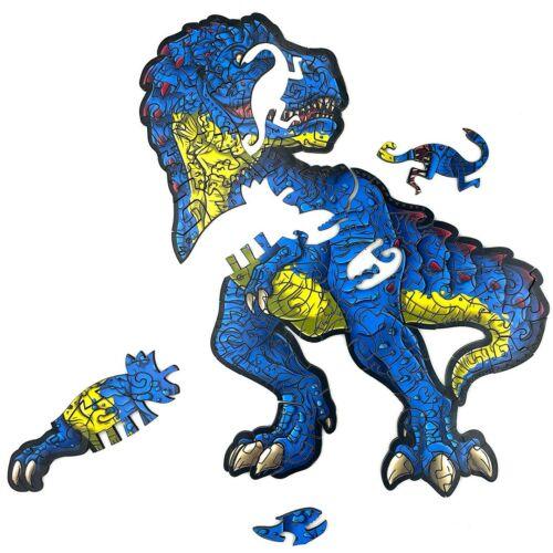 Rémisztő T-Rex különleges fa puzzle (130 db-os, 14+) részlet