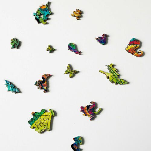 Szivárványos sárkány különleges fa puzzle (14+) részlet