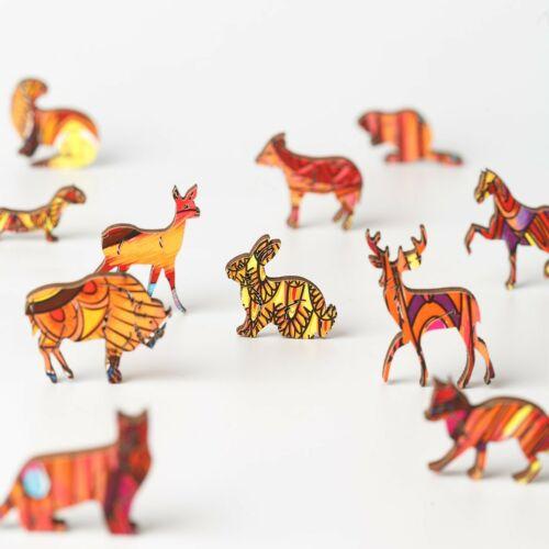 Mindentudó Fülesbagoly különleges fa puzzle (151 db-os, 14+) darabja
