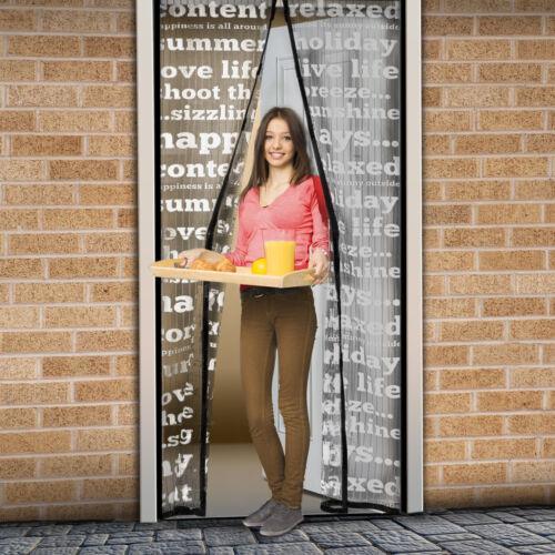 Mágneses szúnyogháló ajtóra (100×210 cm) feliratos
