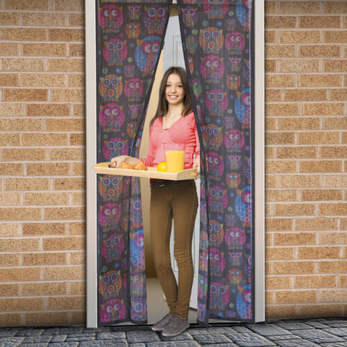 Mágneses szúnyogháló ajtóra (100×210 cm) bagoly