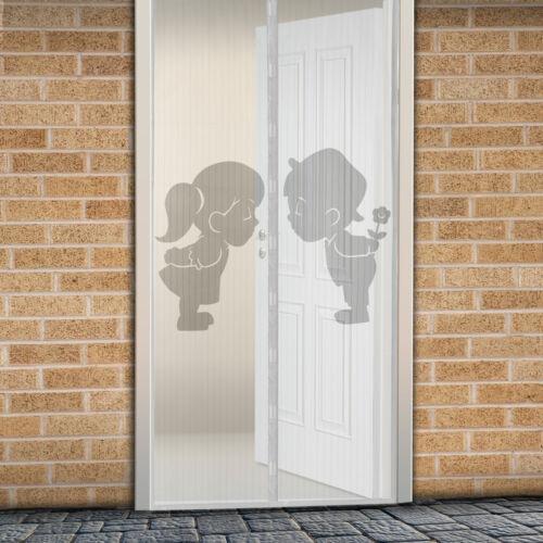 Mágneses szúnyogháló ajtóra (100×210 cm) fiú-lány minta