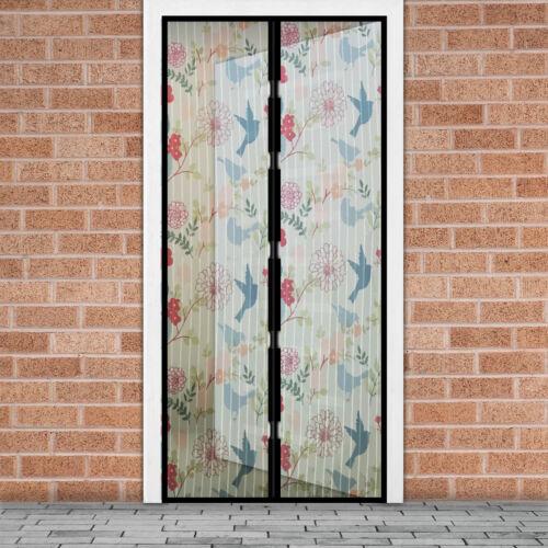 Mágneses szúnyogháló ajtóra (100×210 cm) madaras