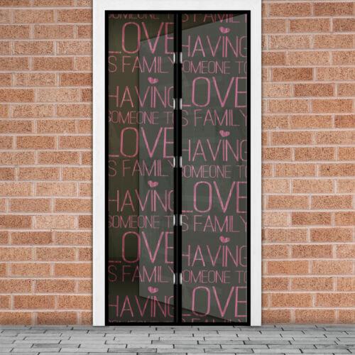 Mágneses szúnyogháló ajtóra (100×210 cm) love