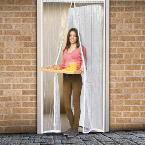 Mágneses szúnyogháló ajtóra (100×210 cm) fehér