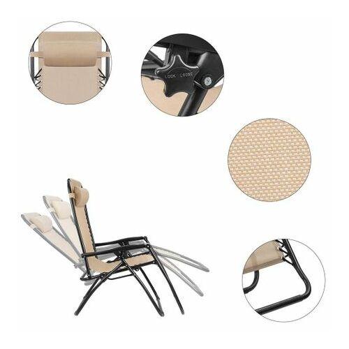 2 db zéró gravitáció kerti szék, ajándék pohár- és telefontartókkal részletek