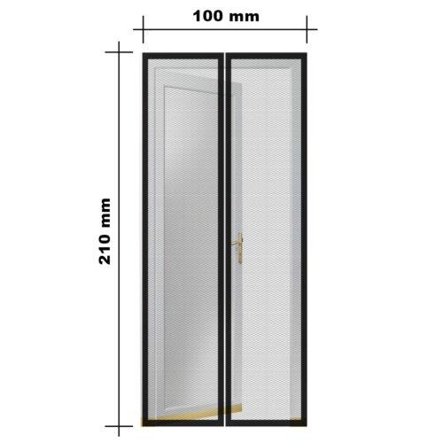 Mágneses szúnyogháló ajtóra (100×210 cm) méretek