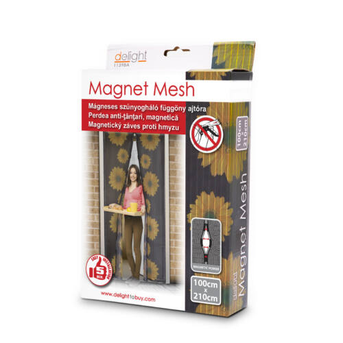 Mágneses szúnyogháló ajtóra (100×210 cm) csomagban